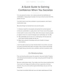A Quick Guide to Gaining Confidence When You Socialize