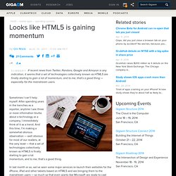 Looks like HTML5 is gaining momentum