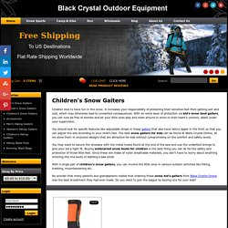 Buy Kids Snow Gaitors - Snow Gaiters designed for Children