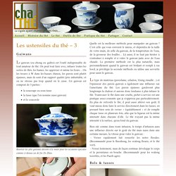 Gaiwan, bols et tasses à thé