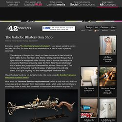The Galactic Blasters Gun Shop (by @baekdal) #design