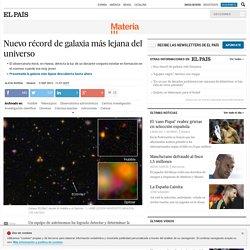 Nuevo récord de galaxia más lejana del universo