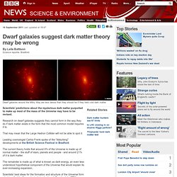 Dwarf galaxies suggest dark matter theory may be wrong
