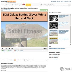 BDM Galaxy Batting Gloves White Red And Black - Sabkifitness.Com