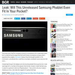Secret Samsung REAL Phablet Comparison shown in leaked photos
