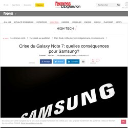 Crise du Galaxy Note 7: quelles conséquences pour Samsung?