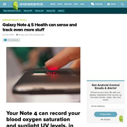 Galaxy Note 4 S Health can sense and track even more stuff