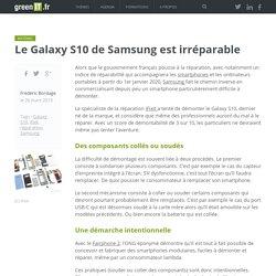 Le Galaxy S10 de Samsung est irréparable
