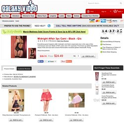 Midnight Affair 3pc Cami - Black - Q/s - Galaxyvideo.xxxshopadult.com