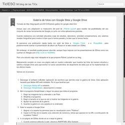 TicIESO: Galería de fotos con Google Sites y Google Drive