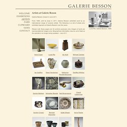 Galerie Besson - Artists
