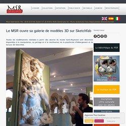 Le MSR ouvre sa galerie de modèles 3D sur Sketchfab