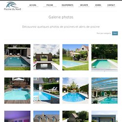 Galerie de photo piscine et abris piscine