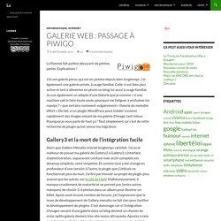 Galerie web : Passage à Piwigo