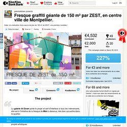 Fresque graffiti géante de 150 m² par ZEST, en centre ville de Montpellier
