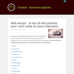 Web design : le top 20 des galeries pour votre veille et votre inspiration