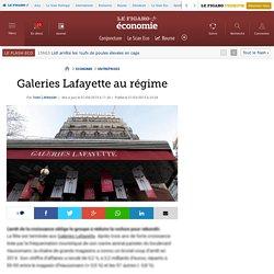 Galeries Lafayette au régime
