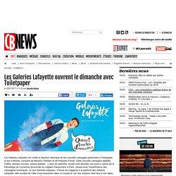 Les Galeries Lafayette ouvrent le dimanche avec Toiletpaper