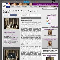 Les galeries du Palais-Royal, ancêtre des passages couverts