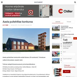 Vaata galeriid - Aasta puitehitise konkurss - EhitusEST