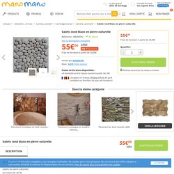 Galets rond blanc en pierre naturelle - galet blancs - Revêtement sol et mur