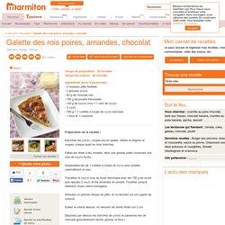 Galette des rois poires, amandes, chocolat : Recette de Galette des rois poires, amandes, chocolat