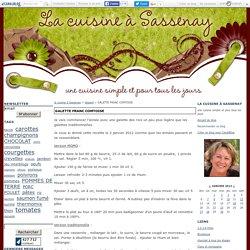 GALETTE FRANC COMTOISE - la cuisine à Sassenay