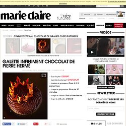 Galette infiniment chocolat de Pierre Hermé