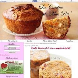 Galette d'avoine et de riz au paprika {végétal} - La cuisine bio de Miss Pat'