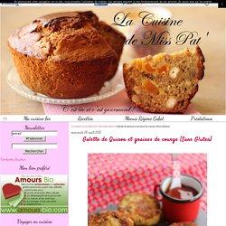 Galette de Quinoa et graines de courge {Sans Gluten} - La cuisine bio de Miss Pat'