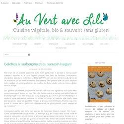 Galettes à l'aubergine et au sarrasin