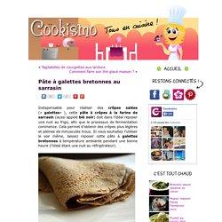 Pâte à galettes bretonnes au sarrasin « Cookismo