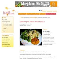 Galettes pois chiche patate douce: recette sans gluten