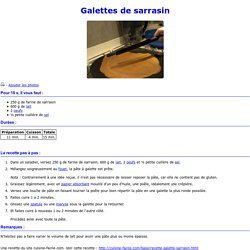 Galettes de sarrasin