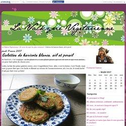 Galettes de haricots blancs, ail et persil