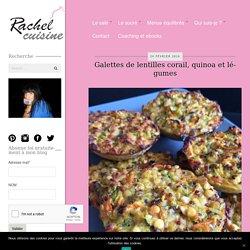 Galettes de lentilles corail, quinoa et légumes