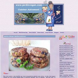 Galettes (Burgers) Méditerranéennes