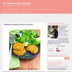 Galettes de patate douce & quinoa