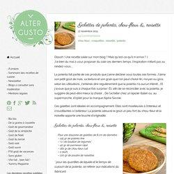 Galettes de polenta, chou-fleur & noisette -