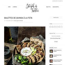 Galettes de quinoa à la feta