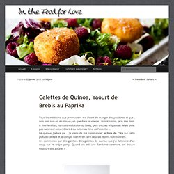 Galettes de Quinoa, Yaourt de Brebis au Paprika | In the Food for Love