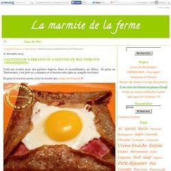 Galettes de sarrasin ou Galettes de blé noir WW (Thermomix) - La marmite de la ferme