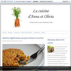 Galettes aux pois chiches et carottes