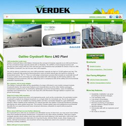 Small-Scale LNG Liquefaction Plant - Verdek
