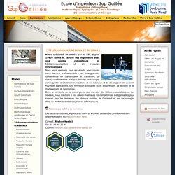 Sup-Galilée - Télécommunications et réseaux