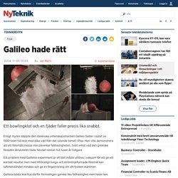 Galileo hade rätt