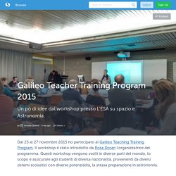 Galileo Teacher Training Program 2015 (with images, tweets) · atiseret