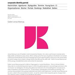 Galleri Jonas Kleerup. corporate identity portal
