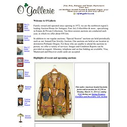 O'Gallerie: Fine Arts, Antiques and Estate Auctions