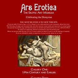 Ars Erotica: The Erotic Art Museum - sex art, erotic art galleries, pinups, pinup art, free pics, free xxx, erotic drawings, erotic paintings, erotic cartoons, erotic comics, erotic nude art, erotic fantasy art, toon sex